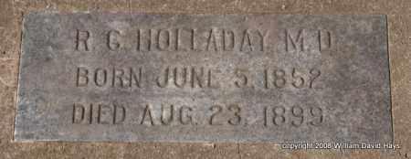HOLLADAY, R. C. - Garland County, Arkansas   R. C. HOLLADAY - Arkansas Gravestone Photos