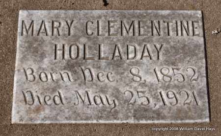 HOLLADAY, MARY CLEMENTINE - Garland County, Arkansas | MARY CLEMENTINE HOLLADAY - Arkansas Gravestone Photos