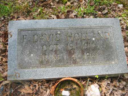 HOLLAND, F. DAVID - Garland County, Arkansas | F. DAVID HOLLAND - Arkansas Gravestone Photos