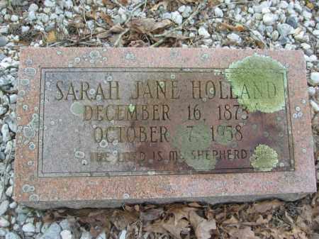 HOLLAND, SARAH JANE - Garland County, Arkansas | SARAH JANE HOLLAND - Arkansas Gravestone Photos