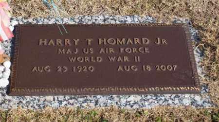 HOMARD, JR (VETERAN WWII), HARRY T - Garland County, Arkansas   HARRY T HOMARD, JR (VETERAN WWII) - Arkansas Gravestone Photos