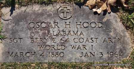 HOOD (VETERAN WWI), OSCAR H. - Garland County, Arkansas   OSCAR H. HOOD (VETERAN WWI) - Arkansas Gravestone Photos