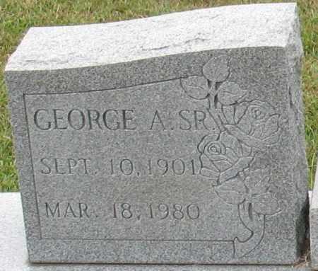HORNE, SR., GEORGE A. (CLOSE UP) - Garland County, Arkansas   GEORGE A. (CLOSE UP) HORNE, SR. - Arkansas Gravestone Photos