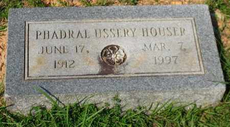 USSERY HOUSER, PHADRAL - Garland County, Arkansas | PHADRAL USSERY HOUSER - Arkansas Gravestone Photos
