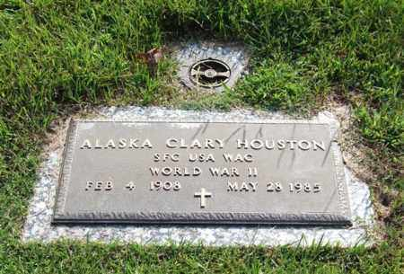 HOUSTON (VETERAN WWII), ALASKA CLARY - Garland County, Arkansas | ALASKA CLARY HOUSTON (VETERAN WWII) - Arkansas Gravestone Photos