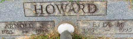 HOWARD, ARNOLD J. (CLOSE UP) - Garland County, Arkansas | ARNOLD J. (CLOSE UP) HOWARD - Arkansas Gravestone Photos