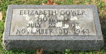 GOWER HOWARD, ELIZABETH - Garland County, Arkansas   ELIZABETH GOWER HOWARD - Arkansas Gravestone Photos
