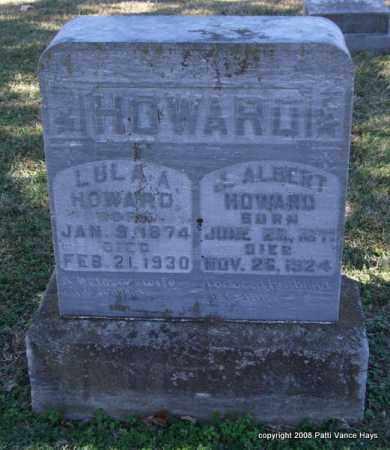 HOWARD, LULA A. - Garland County, Arkansas   LULA A. HOWARD - Arkansas Gravestone Photos