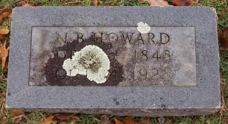 HOWARD, N. B. - Garland County, Arkansas | N. B. HOWARD - Arkansas Gravestone Photos