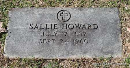 HOWARD, SALLIE - Garland County, Arkansas | SALLIE HOWARD - Arkansas Gravestone Photos