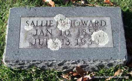HOWARD, SALLIE M. - Garland County, Arkansas | SALLIE M. HOWARD - Arkansas Gravestone Photos