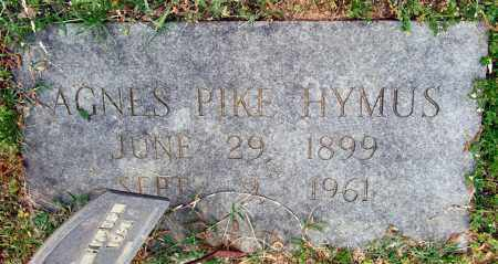 PIKE HYMUS, AGNES - Garland County, Arkansas   AGNES PIKE HYMUS - Arkansas Gravestone Photos