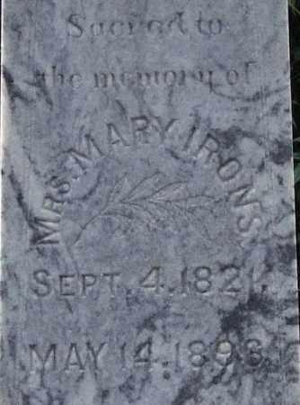 IRONS, MARY (CLOSE UP) - Garland County, Arkansas | MARY (CLOSE UP) IRONS - Arkansas Gravestone Photos