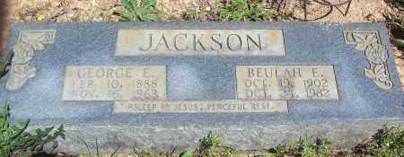 JACKSON, GEORGE E. - Garland County, Arkansas   GEORGE E. JACKSON - Arkansas Gravestone Photos