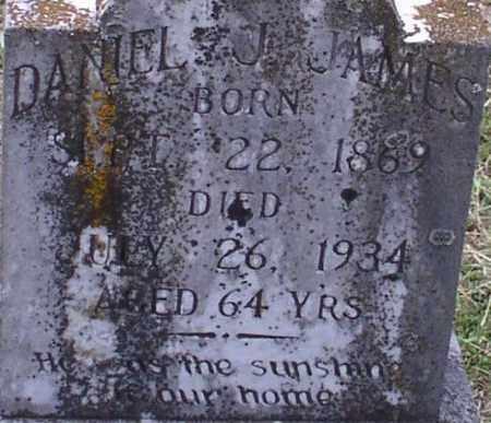 JAMES, DANIEL JEFFERSON (CLOSE UP) - Garland County, Arkansas | DANIEL JEFFERSON (CLOSE UP) JAMES - Arkansas Gravestone Photos