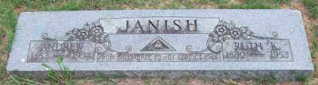 JANISH, ANDREW - Garland County, Arkansas | ANDREW JANISH - Arkansas Gravestone Photos