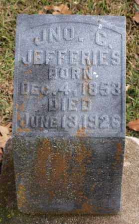 JEFFERIES, JOHN G. - Garland County, Arkansas   JOHN G. JEFFERIES - Arkansas Gravestone Photos