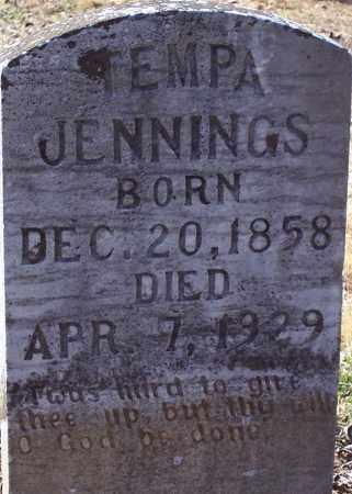 "HURST JENNINGS, TEMPERANCE ""TEMPA"" - Garland County, Arkansas | TEMPERANCE ""TEMPA"" HURST JENNINGS - Arkansas Gravestone Photos"