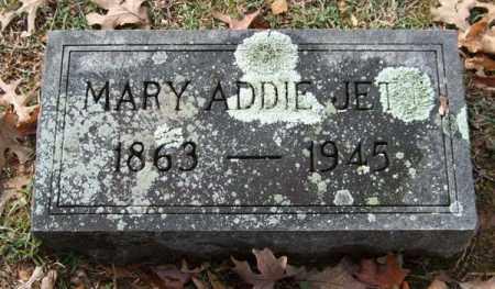 JETT, MARY ADDIE - Garland County, Arkansas | MARY ADDIE JETT - Arkansas Gravestone Photos