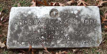 JETT (VETERAN WWI), ANDREW JACKSON - Garland County, Arkansas | ANDREW JACKSON JETT (VETERAN WWI) - Arkansas Gravestone Photos