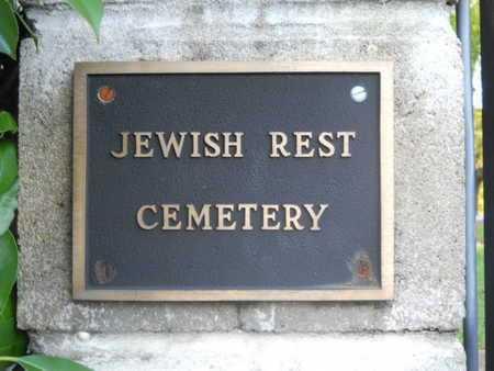 *JEWISH REST CEMETERY, SIGN - Garland County, Arkansas   SIGN *JEWISH REST CEMETERY - Arkansas Gravestone Photos