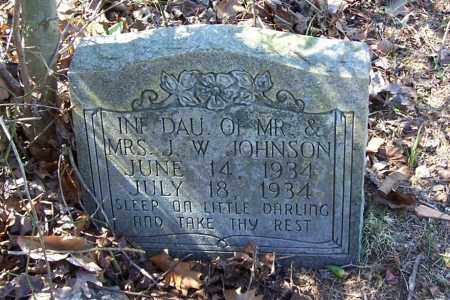JOHNSON, INFANT DAUGHTER (1934) - Garland County, Arkansas | INFANT DAUGHTER (1934) JOHNSON - Arkansas Gravestone Photos