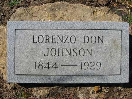 JOHNSON, LORENZO DON - Garland County, Arkansas | LORENZO DON JOHNSON - Arkansas Gravestone Photos