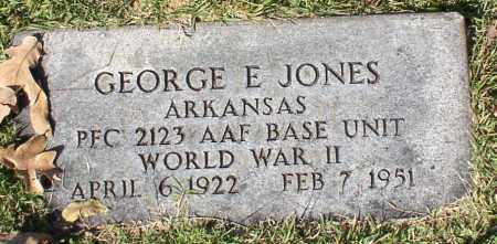 JONES (VETERAN WWII), GEORGE E. - Garland County, Arkansas | GEORGE E. JONES (VETERAN WWII) - Arkansas Gravestone Photos