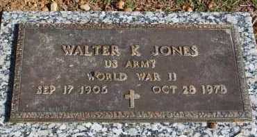 JONES (VETERAN WWII), WALTER K - Garland County, Arkansas | WALTER K JONES (VETERAN WWII) - Arkansas Gravestone Photos