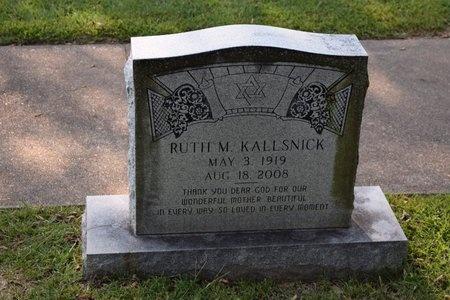 KALLSNICK, RUTH M. - Garland County, Arkansas | RUTH M. KALLSNICK - Arkansas Gravestone Photos