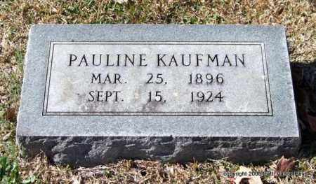 KAUFMAN, PAULINE - Garland County, Arkansas | PAULINE KAUFMAN - Arkansas Gravestone Photos
