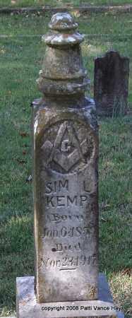 KEMP, SIM L. - Garland County, Arkansas | SIM L. KEMP - Arkansas Gravestone Photos