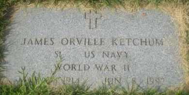 KETCHUM (VETERAN WWII), JAMES ORVILLE - Garland County, Arkansas | JAMES ORVILLE KETCHUM (VETERAN WWII) - Arkansas Gravestone Photos