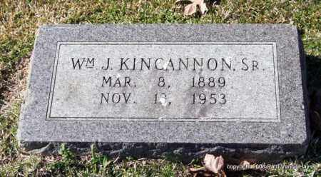 KINCANNON, SR., WILLIAM J. - Garland County, Arkansas | WILLIAM J. KINCANNON, SR. - Arkansas Gravestone Photos