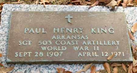 KING (VETERAN WWII), PAUL HENRY - Garland County, Arkansas | PAUL HENRY KING (VETERAN WWII) - Arkansas Gravestone Photos