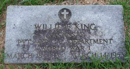 KING (VETERAN WWI), WILLIE F. - Garland County, Arkansas | WILLIE F. KING (VETERAN WWI) - Arkansas Gravestone Photos