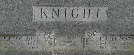 KNIGHT, PETER CHARLIE (CLOSE UP) - Garland County, Arkansas | PETER CHARLIE (CLOSE UP) KNIGHT - Arkansas Gravestone Photos