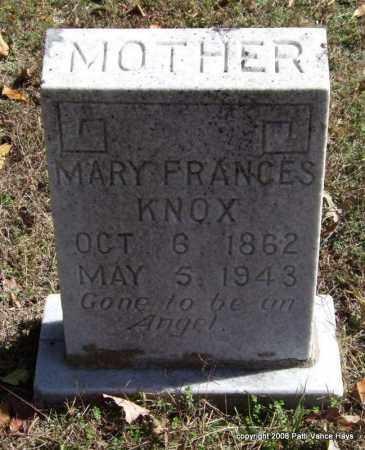 KNOX, MARY FRANCES - Garland County, Arkansas   MARY FRANCES KNOX - Arkansas Gravestone Photos