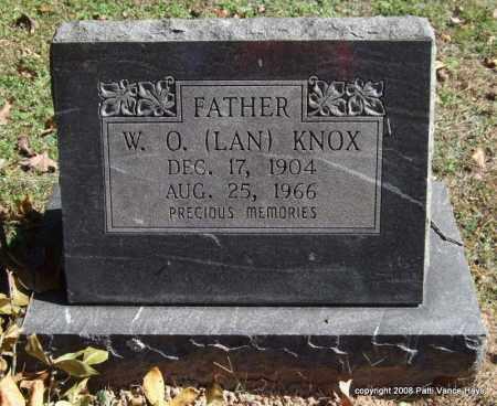 KNOX, W. O. (LAN) - Garland County, Arkansas   W. O. (LAN) KNOX - Arkansas Gravestone Photos