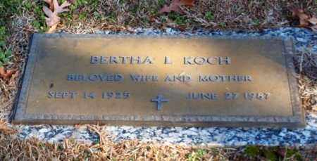 KOCH, BERTHA L - Garland County, Arkansas | BERTHA L KOCH - Arkansas Gravestone Photos