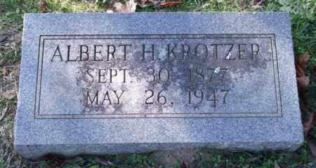 KROTZER, ALBERT H. - Garland County, Arkansas | ALBERT H. KROTZER - Arkansas Gravestone Photos