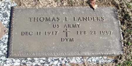 LANDERS (VETERAN), THOMAS L - Garland County, Arkansas | THOMAS L LANDERS (VETERAN) - Arkansas Gravestone Photos