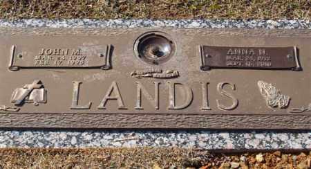 LANDIS, JOHN M - Garland County, Arkansas | JOHN M LANDIS - Arkansas Gravestone Photos