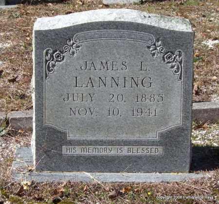 LANNING, JAMES L. - Garland County, Arkansas | JAMES L. LANNING - Arkansas Gravestone Photos
