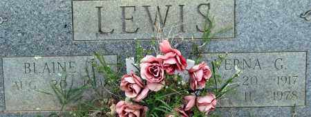 LEWIS, BLAINE T. (CLOSE UP) - Garland County, Arkansas   BLAINE T. (CLOSE UP) LEWIS - Arkansas Gravestone Photos