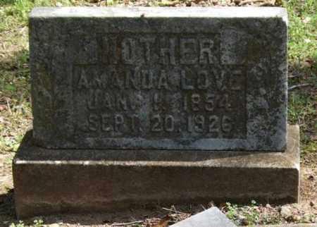 LOVE, AMANDA - Garland County, Arkansas   AMANDA LOVE - Arkansas Gravestone Photos