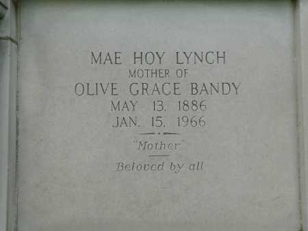 HOY LYNCH, MAE - Garland County, Arkansas | MAE HOY LYNCH - Arkansas Gravestone Photos