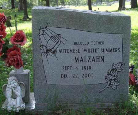 "MALZAHN, AUTUMESE ""WHITE"" SUMMERS - Garland County, Arkansas | AUTUMESE ""WHITE"" SUMMERS MALZAHN - Arkansas Gravestone Photos"