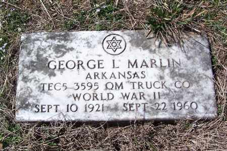 MARLIN (VETERAN WWII), GEORGE L. - Garland County, Arkansas | GEORGE L. MARLIN (VETERAN WWII) - Arkansas Gravestone Photos