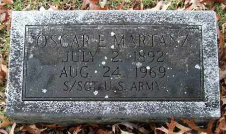 MARTANZ (VETERAN), OSCAR E. - Garland County, Arkansas | OSCAR E. MARTANZ (VETERAN) - Arkansas Gravestone Photos
